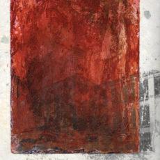 Nur die halbe Welt ist Teflon und Asbest, kleurets en thinnerdruk op handgeschept papier, 21,5 x 27 cm, 2000