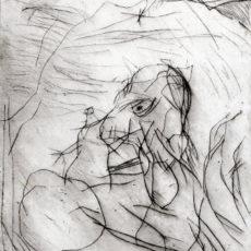 Enkidu meets Gilgamesh, droge naald ets, 1997