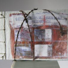 Gedaantewisselingen naar de übermensch, gemengde techniek, 15 x 22 cm, 2013