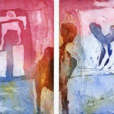 Escape, kleurets, (2x) 15 x 19,8 cm, 1998