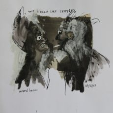 We touch like cripples, gemengde techniek en collage op papier, 28 x 29 cm, 2007