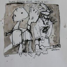 Keep playing that rock & roll, inkt op papier, 28 x 29 cm, 2007