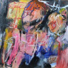 Nieuwe slachtoffers zijn al gevonden, gemengde techniek op canvas, 30 x 30 cm, 2014