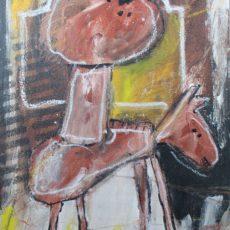 I'm a poor lonesome cowboy, gemengde techniek op canvas, 30 x 40 cm, 2004