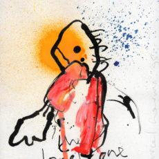 The lonely one, gemengde techniek op papier, 12,9 x 15,8 cm, 1995