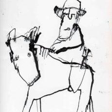 I'm a poor lonesome cowboy, inkt op papier, 24,8 x 31,5 cm, 2016
