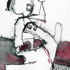 Boos, inkt en potlood op papier, 21 x 29,7 cm, 2016