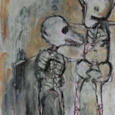 In the port of souls, gemengde techniek op papier, 29,5 x 52 cm, 2013