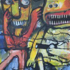 War all the time, gemengde techniek op canvas, 50 x 60 cm, 2005