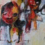 Benoni en Rosa, gemengde techniek op canvas, 60 x 80 cm, 2016