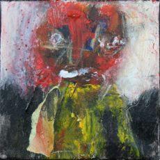 I feel voxish, gemengde techniek op canvas, 20 x 20 cm, 2016