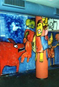 Muurschildering gebouw Sociale Dienst Enschede (2003)