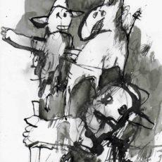 the backstabbers inkt op papier, 21 x 29,7 cm 2016001