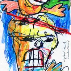 Like a blister in the sun, stift en krijt op papier, 21 x 29,7 cm, 2000