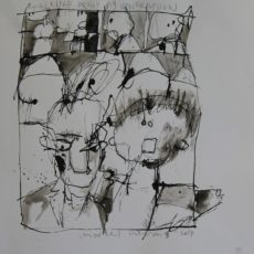 Talking 'bout my generation gemengde techniek op papier, 28 x 29 cm, 2007