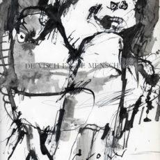 De visch en de mensch, inkt en potlood op pagina uit boek, 24,7 x 31,6 cm, 2016 - kopie
