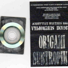 Origami Subtropika - 'Bomb Shelter Lullabies' business card CDR, released by Cipher Productions, Australia