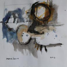 De laatste reis, inkt en potlood op papier, 29,3 x 29,3 cm, 2007