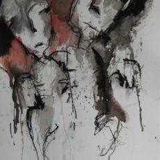 How to destroy angels, gemengde techniek op papier, 29,6 x 40,5 cm, 2016