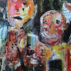 Jangle town, gemengde techniek en collage op canvas, 40 x 30 cm, 2014