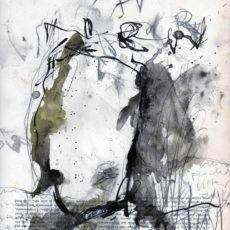 New puritan, inkt en potlood op boekpagina, 24,8 x 31,5 cm, 2016