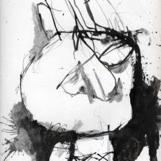 The indians the best, inkt en potlood op boekpagina, 24,8 x 31,5 cm, 2016