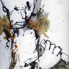 The backstabber, inkt en potlood op boekpagina, 24,8 x 31,5 cm, 2016