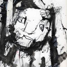 Honger naar rendement, gemengde techniek op boekpagina, 24,8 x 31,5 cm, 2016