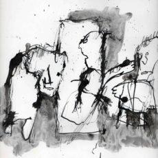 Het goede voorbeeld, inkt en potlood op boekpagina, 24,8 x 31,5 cm, 2016