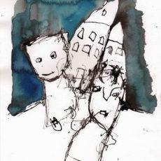 Gewoon zoals het hoort, inkt en potlood op papier, 21 x 29,7 cm, 2017