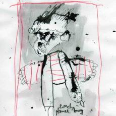 Lonely planet boy, inkt en potlood op papier, 18 x 27 cm, 2007