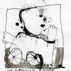 No direction home, inkt op papier, 17 x 21 cm, 2007