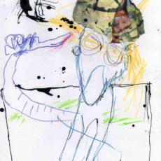 De controle liet te wensen over, inkt, potlood en collage op papier, 20,8 x 29,8 cm, 2007