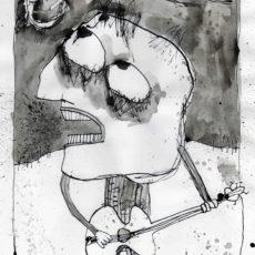 Orpheus, inkt en potlood op papier, 20,8 x 29,8 cm, 2007