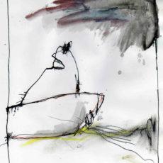 De reis, inkt en potlood op papier, 20 x 23,5 cm, 2007