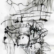 Burning in water drowning in flame, gemengde techniek op papier, 19,5 x 28 cm, 2007