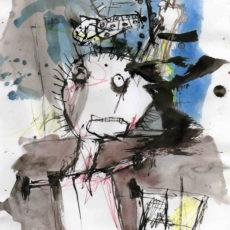 Stop messin around in my head, inkt en potlood op papier, 20,5 x 29,5 cm, 2007