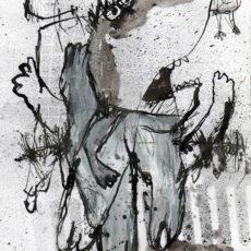 Bird watching, gemengde techniek op papier, 20,5 x 29,5 cm, 2007