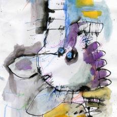 Het zit in de lucht, inkt en potlood op papier, 20,5 x 29,5 cm, 2007 (verkocht/sold)