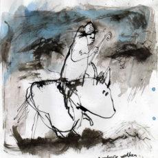 Donkere wolken, inkt op papier, 20,5 x 22 cm, 2007