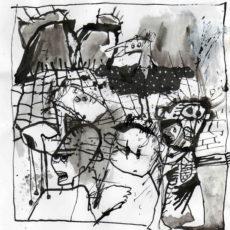 There goes the neigborhood, inkt op papier, 20 x 20,5 cm, 2007