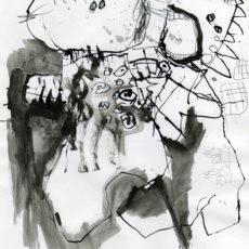 Het interview, inkt en potlood op papier, 20,5 x 29,5 cm, 2007