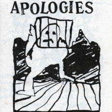 All Apologies, booklet with drawings, published by Formaline Flavour (Belgium)