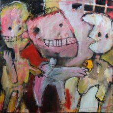 Please allow me to introduce myself, gemengde techniek op canvas, 30 x 30 cm, 2013