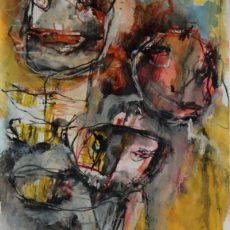 I travelled mostly on the road (I), gemengde techniek op papier, 29,6 x 40,5 cm, 2015