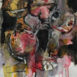 I travelled mostly on the road (II), gemengde techniek op papier, 29,6 x 40,5 cm, 2015
