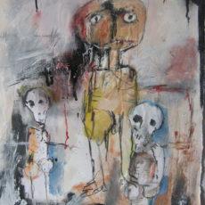Dead people are less frightening than live ones gemengde techniek op papier, 42 x 50 cm, 2015
