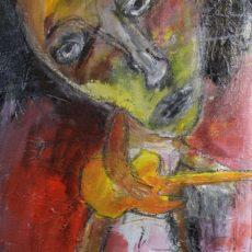 It's a long way to the top if you wanna rock & roll, gemengde techniek op canvas, 30 x 40 cm, 2012