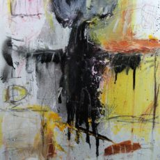 I don't wanna grow up, gemengde techniek op canvas, 30 x 40 cm, 2012