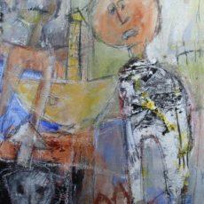 A house is not a home, gemengde techniek op canvas, 30 x 40 cm, 2012